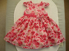 Baby Girls Pink Floral Party Dress & Pants Age 6-9 months- BNWT George