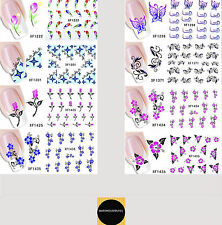 Ladies Nail Decal Art Stickers 3D Decals Water Transfers Nails Transfer UK Stock
