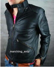 New Soft Genuine Leather Lambskin Motorcycle Biker Jacket Blazer Bomber Coat BLZ