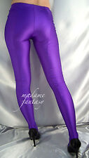MADAME FANTASY SEXY PURPLE SHINY OPAQUE SPANDEX FOOTED LEGGINGS XS XXXL Tall