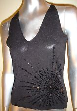 CLAIRE.DK SILK & LUREX BEADED TOP. SIZE M & L  RRP £54  * BNWT*
