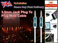 1M -3.5mm Jack Plug To Plug Male Cable - Audio Lead For Headphone/Aux/MP3/iPod