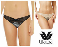 Wacoal Fragile Drama Sheer Mesh Brief Knickers 843250 Black Raindrop or Sand NEW