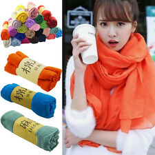 Fashion Lady Women Scarf Long Candy Colors Soft Cotton Wrap Shawl Scarves Stole