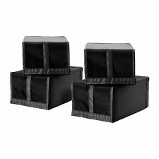 4 x IKEA SKUBB Shoe Storage Boxes With Mesh Front - Fits PAX Wardrobe Systems