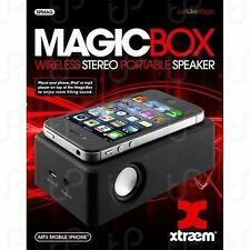 Magic Box Amplifies Mobile Phone iPod Wireless Stereo Portable Speaker NIB