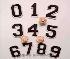 1 x Number 0-9 Embroidered Iron On Patch Sew Motif DIY Numbers