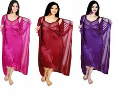RamE Hot women bridal ,causal  satin nighty,Gown,night wear (Combo pack) ,