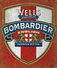 Wells Bombardier English Premium Bitter ADVERTISING METAL TIN SIGN POSTER PLAQUE