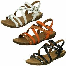 Ladies Clarks Slingback Buckle Sandals Label - Autumn Peace