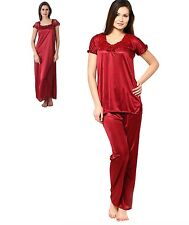 RamE Hot women bridal ,causal  satin nighty,Gown,night wear with Top and Pajama