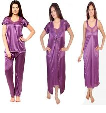 RamE Hot women bridal 4 PC  Satin nighty,Gown,night wear with Top and Pajama