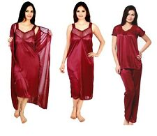 RamE Hot women  4 PC  Satin nighty,Gown,night wear with Top and Pajama