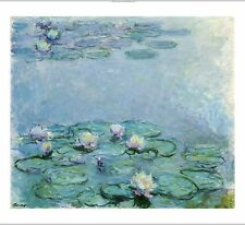 "CLAUDE MONET ""Water Lilies"" print ON CANVAS choose SIZE, from 55cm upwards, NEW"