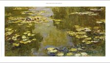 "CLAUDE MONET ""Lily Pond II"" Art CANVAS EDITION choose SIZE, 55cm upwards, NEW"