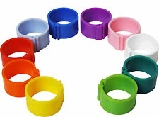 10 x 8 mm Clip On Leg Rings for Chickens, Chick, Quail, Pigeon, Poultry, Bantam