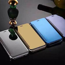 Mirror  View Clear Flip Phone Case Cover electroplated,Samsung Galaxy S6/S6 Edge