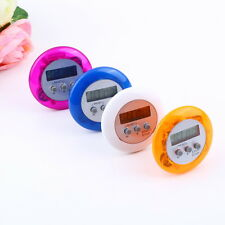 New Cute Mini Round LCD Digital Cooking Home Kitchen Countdown UP Timer Alarm SW