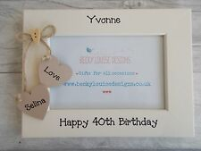 40th Birthday Personalised Photo Frame Gift 6X4 5X7 8X6 10X8 QUICK DISPATCH