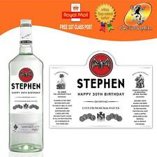PERSONALISED WHITE RUM BOTTLE LABEL BIRTHDAY ANY OCCASION GIFT