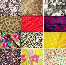 Beautiful Printed Polycotton Fabric - various Designs - Sold by the metre