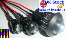 3/5/10mm Ultra Bright Pre-wired Constant/Flashing 12v LEDs Optional Holders