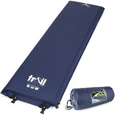 Single Camping Mat Inflatable Camp Roll Mattress Self