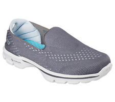 SCARPE SKECHERS GO WALK 3 - DOMINATE W donna mocassino slip on grigio 14050 CCBL