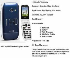 Doro Phone Easy 632 Flip Fold Big Button Big Display Unlocked 3G Mobile Phone