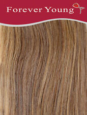 Caramel Brown Clip In Human Hair Extension Full Head #10 Double Wefted