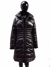 MONCLER LONG DOWN JACKET, RRP £990, BLACK AND PLUM