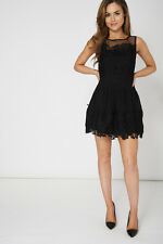 NEW ARRIVAL! - Black Lace Dress Sexy Coctail Fasion Lady Womens Valentine's Gift