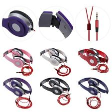 Plegable Stereo CASCOS AURICULARES para PC MP3 MP4 iPod iPhone Samsung Universal