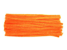 Metallic Highlight Fluorescent Orange Chenille Pipe Cleaners