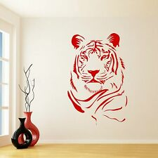 grande gatto LEONE TIGRE Animal Wall Sticker Adesivi Da Parete Transfer Vinile