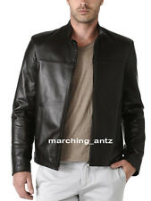 New Soft Genuine Leather Lambskin Motorcycle Biker Jacket Blazer Bomber Coat 502