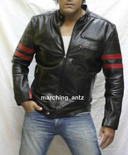 New Soft Genuine Leather Lambskin Motorcycle Biker Jacket Blazer Bomber Coat BKM