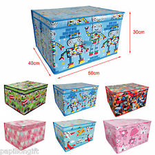 Kids Storage Chest Large Accessories Storage Box Laundry Bag Folding Toy Box