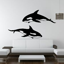Orca Assassina Animal Pesci Wall Sticker Adesivi Da Parete Stampa Design Bagno