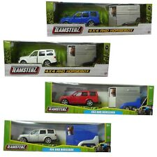 Teamsterz Land Rover 4x4 Car & Horsebox Die Cast Blue Silver Red OR White