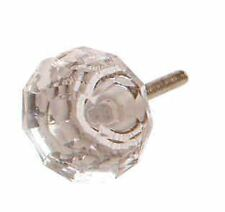 Clear Crystal Glass Door Knobs Furniture Cupboard Drawer pulls handles Sass Bell