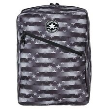New Mens Converse Black Diagonal Zip Polyester Backpack Backpacks