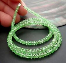 GORGEOUS AAAA+ GREEN TSAVORITE GARNET FACETED BEADS 15.5