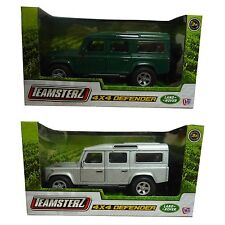Teamsterz Land Rover 4x4 Defender Die Cast Green Or Silver Model Car Toy New