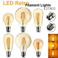 E27/B22 LED COB Vintage Retro Industrial Style Edison Lamp Filament Light Bulb