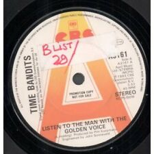 """TIME BANDITS Listen To The Man With The Golden Voice 7"""" VINYL UK Cbs Promo"""