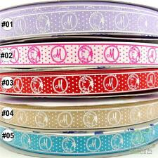 "2Yard 10 Yard MixedCat Dot Cartoon Grosgrain Ribbon Craft 16mm(5/8"") Hair Bow"