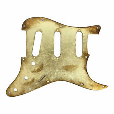 Pickguard CUSTOM ORDER Fender Stratocaster style RELIC GOLD LEAF SILVER COP aged