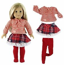 Qinsuee American Girl Doll Clothes Set for American Girl, Our Generation and