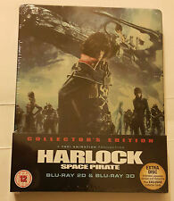 Harlock Space Pirate Steelbook 2D/3D Blu-ray & DVD NEW & SEALED
